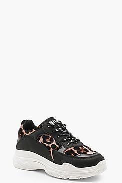 Leopard Chunky Sole Sneakers