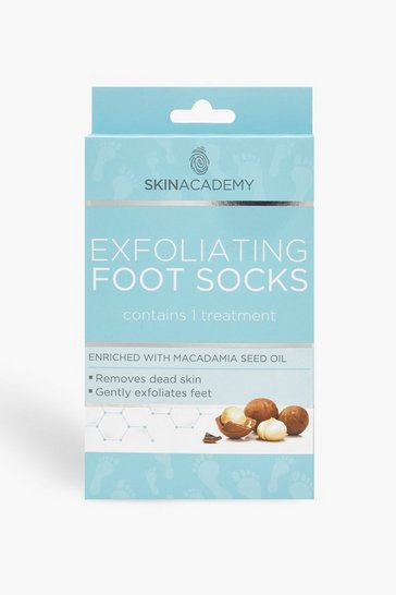 Womens Blue Exfoliating Foot Socks