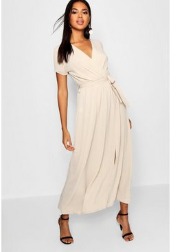 Womens Stone Wrap Maxi Dress