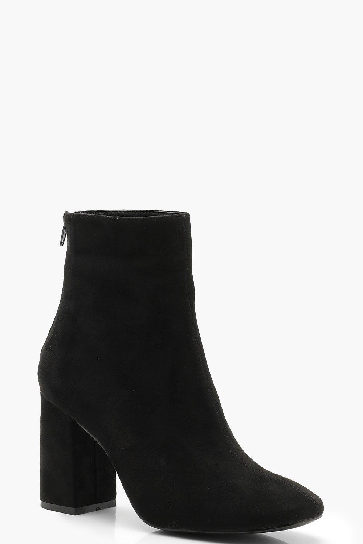 ec03b2767d9 Block Heel Square Toe Shoe Boots. Hover to zoom