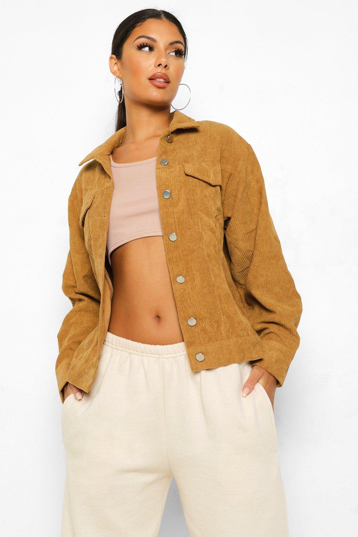70s Jackets, Furs, Vests, Ponchos Womens Oversize Cord Jacket - Brown - 10 $28.00 AT vintagedancer.com