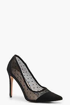 Polka Dot Asymmetric Court Shoes