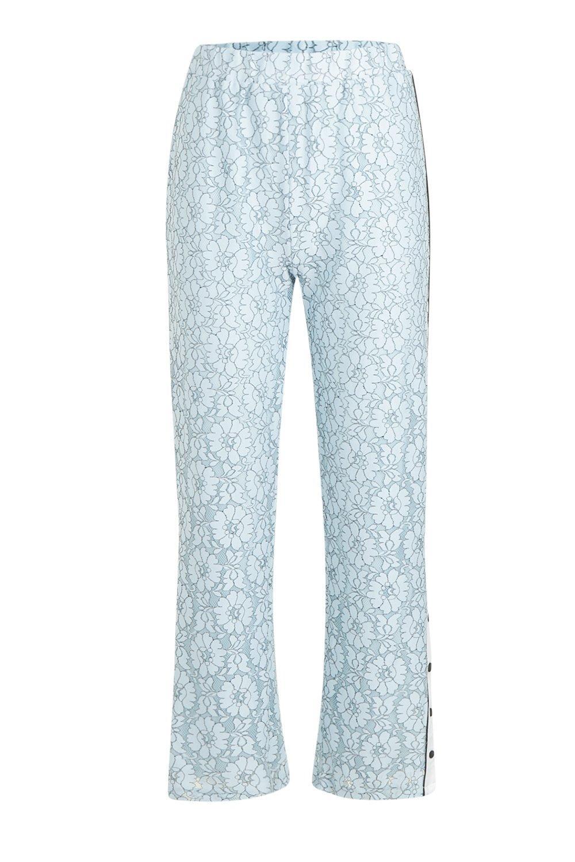 botones encaje con de de Pantalones adorno azul ZqAXw04n5x