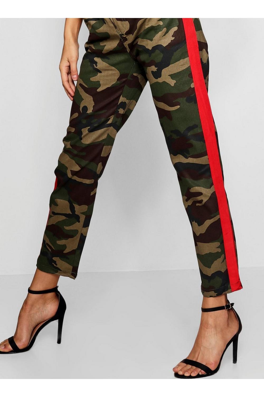 militar caqui camuflados estilo lateral con Pantalones 54x1Fn8wR