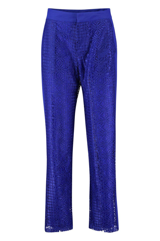 Pantalones Pantalones azul pitillo encaje de pitillo de zqTFfn