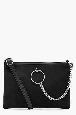 Ring & Chain Zip Top Cross Body