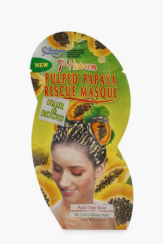 Pulped Papaya Deep Shine Hair Rescue Mask