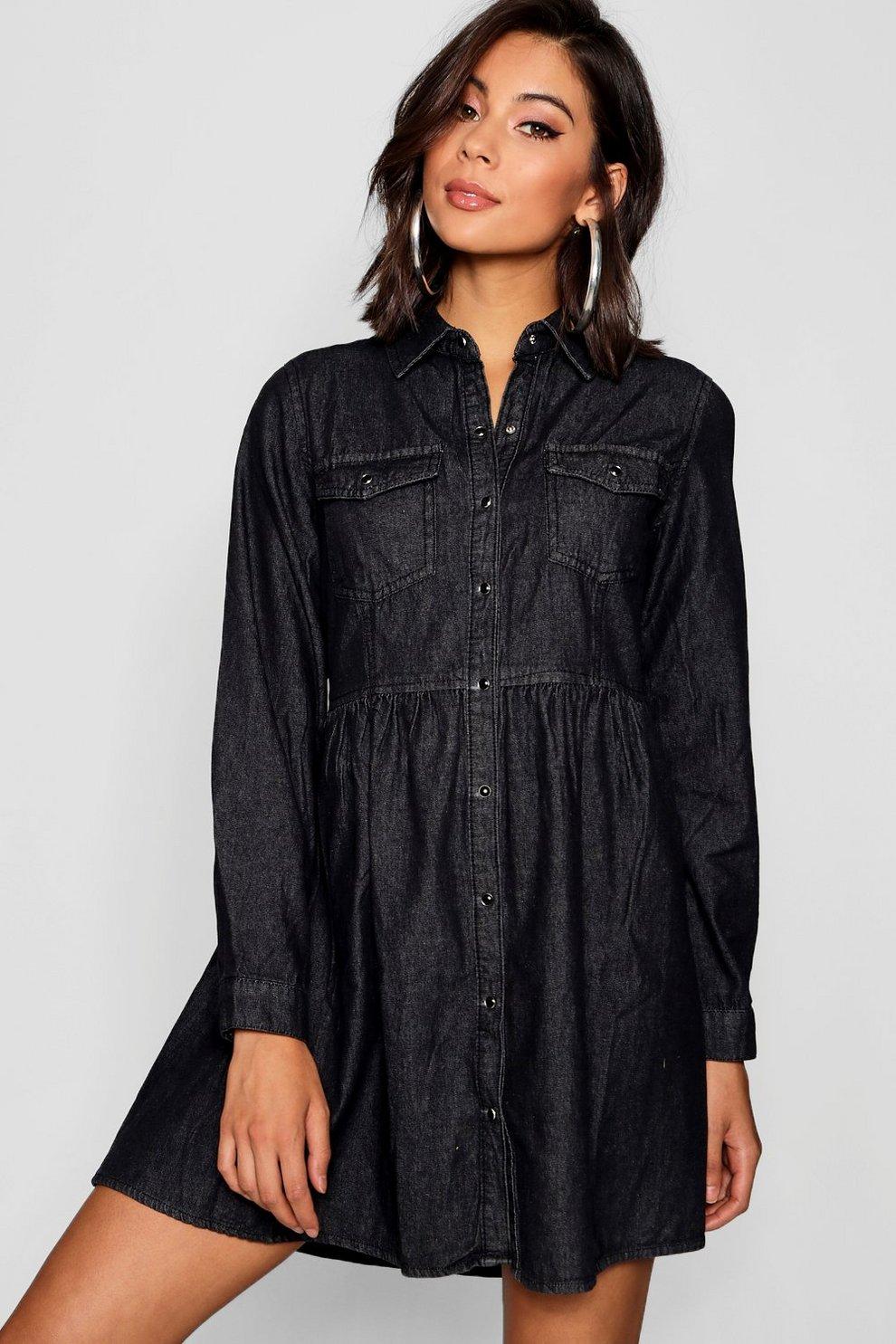 8de5d591e69 Long Sleeve Denim Shirt Dress