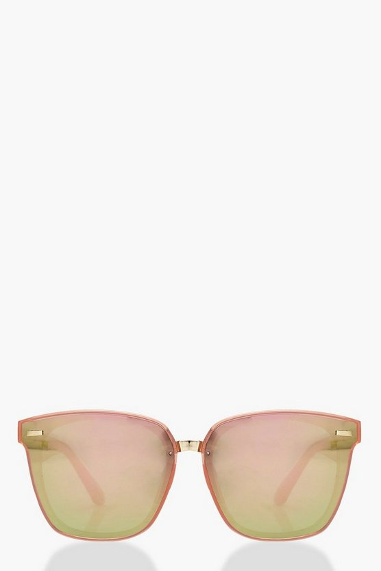 Oversized Pink Frame Sunglasses
