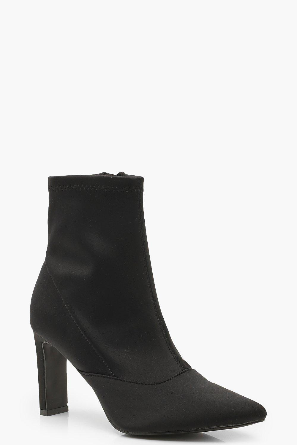 039e16d5b141 Stretch Flat Mid Heel Sock Boots. Hover to zoom