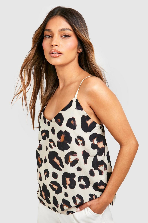 Camisola leopardo de estampado natural tejida con liso qU4qragx