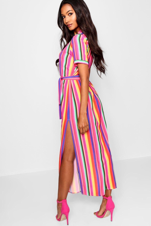 Rainbow Stripe Shirt Stripe Dress Dress Shirt Rainbow Dress Rainbow Midaxi Stripe Shirt Midaxi Midaxi ZEnAq