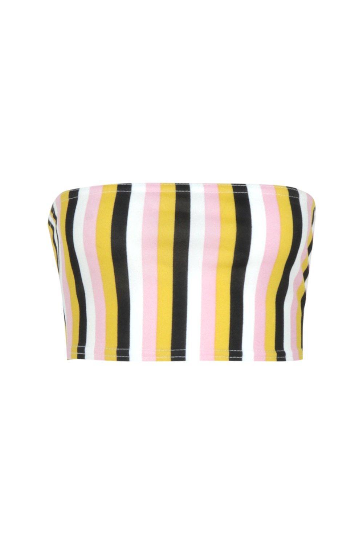 Jersey Tonal Tonal Top Bandeau Stripe Stripe Bandeau wXqE8X