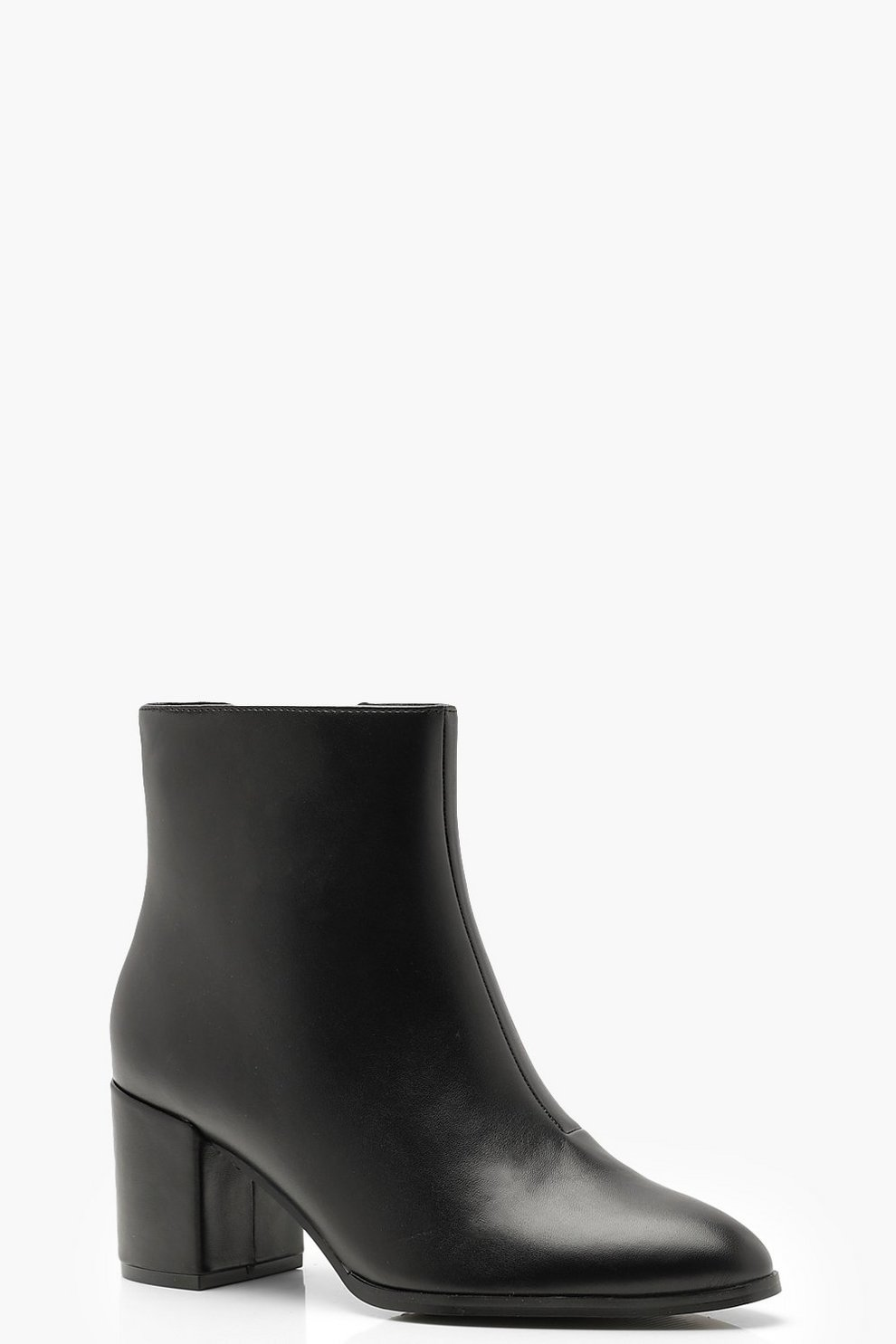 eb8deed3c219 Wide Fit Block Heel Shoe Boots