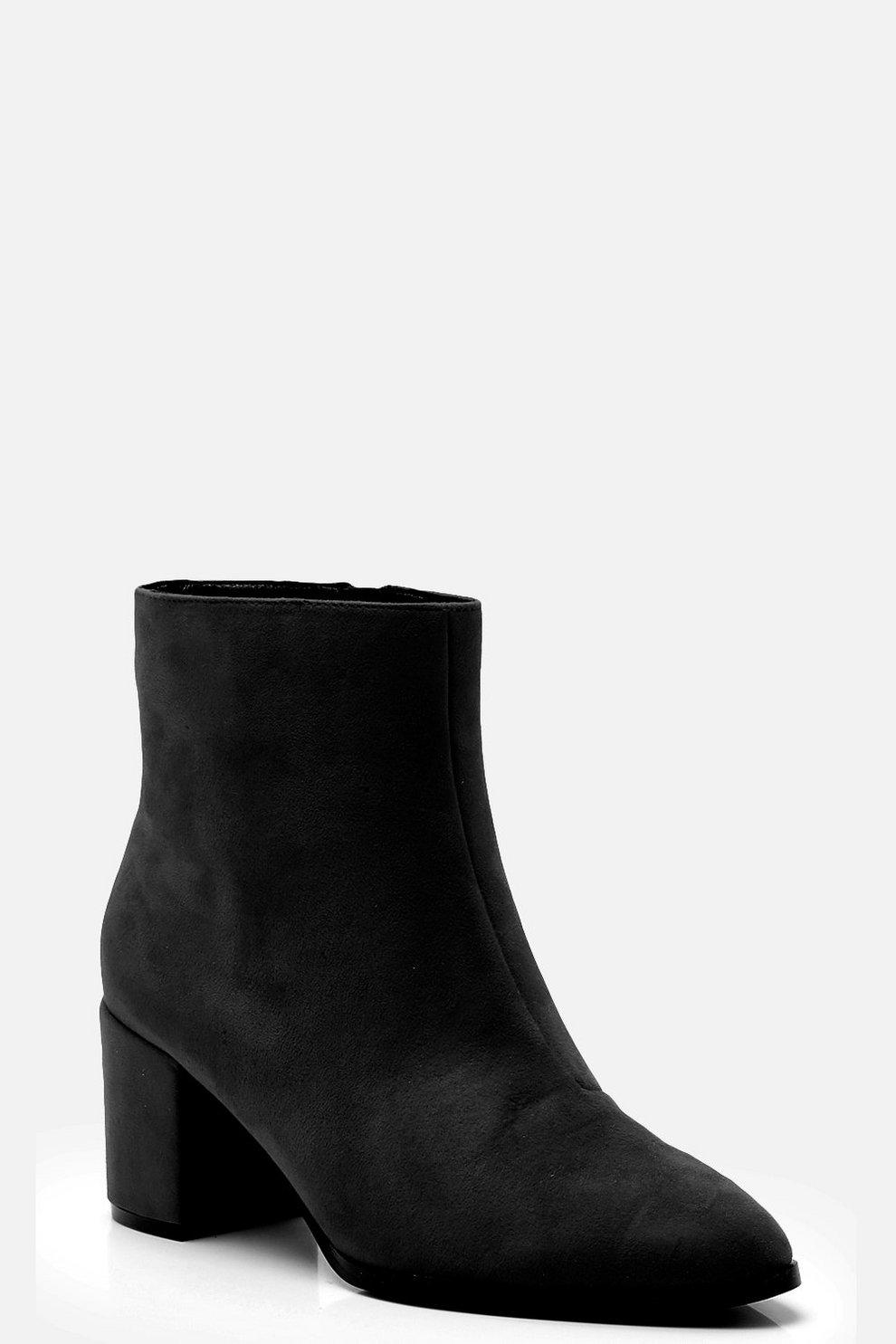 2b5c2218bd94 Wide Fit Block Heel Sock Boots
