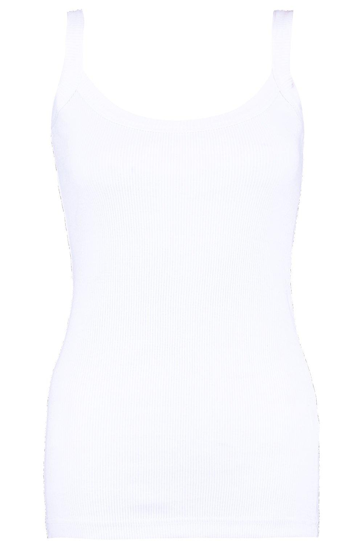 Chaleco blanco acanalado acanalado Chaleco wZzqP4