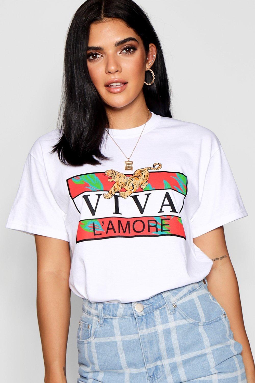 "Camiseta Camiseta ""Viva con con eslogan L'Amore 5xxvrq1w"