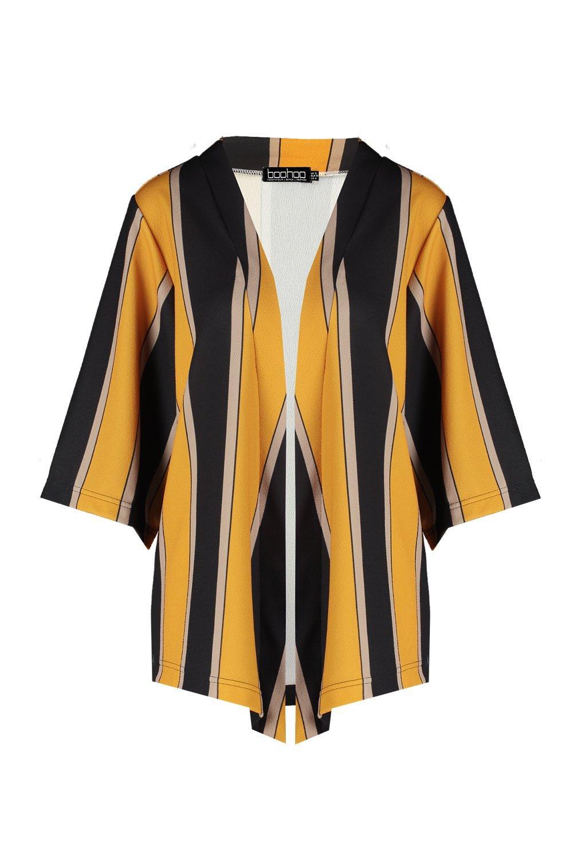 Kimono rayas gruesas Kimono a gruesas mostaza mostaza rayas a Kimono PwgrqOP