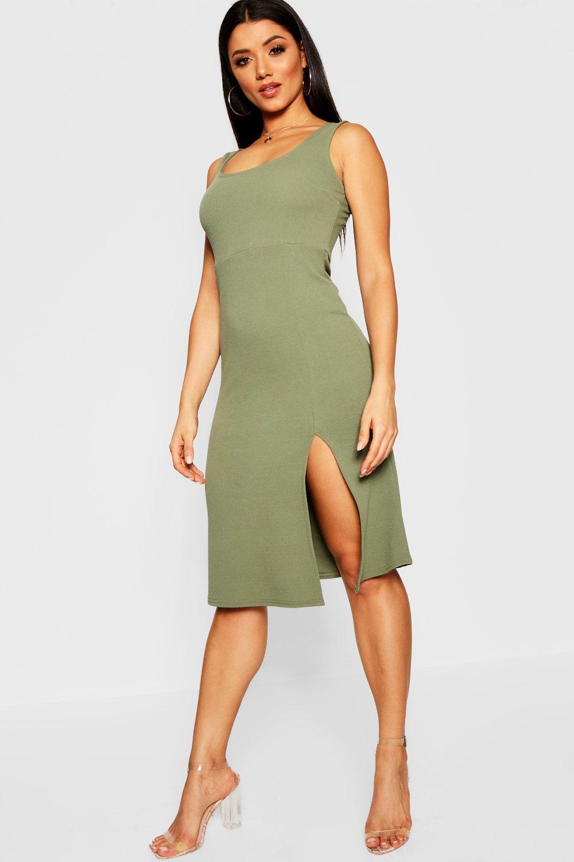 -Платье-миди с квадратным вырезом и с разрезом до бедра boohoo thumbnail