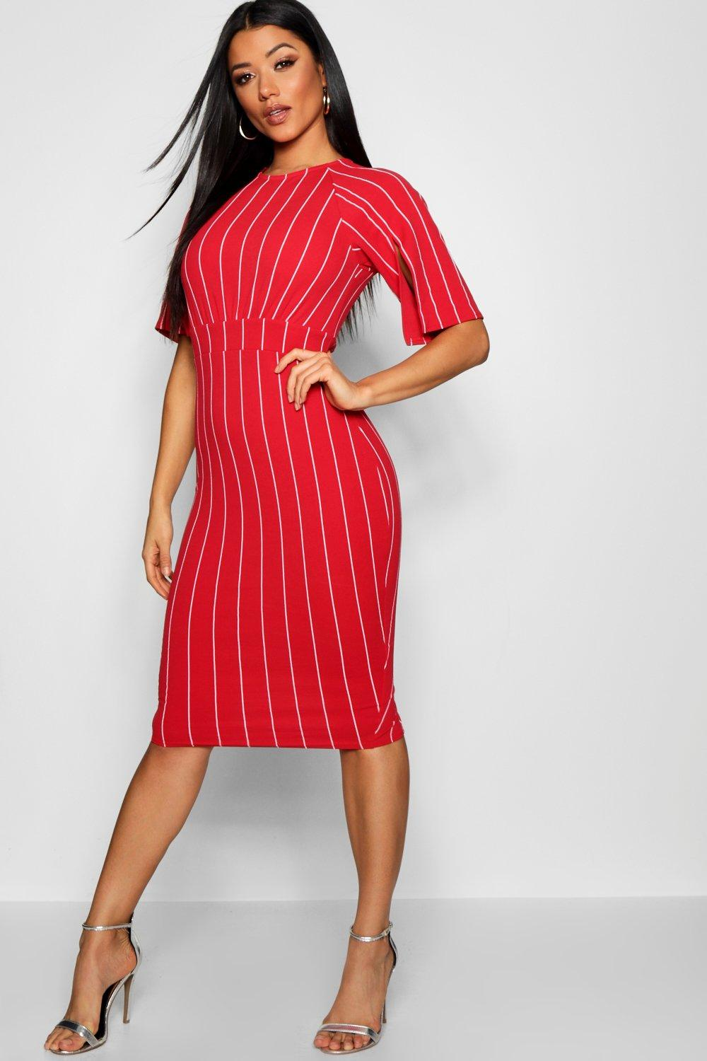 ccdb2e3a8b5 split sleeve detail wiggle midi dress - Shop split sleeve detail ...