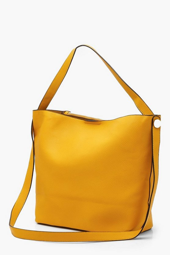 Bucket Day Bag With Cross Body Strap