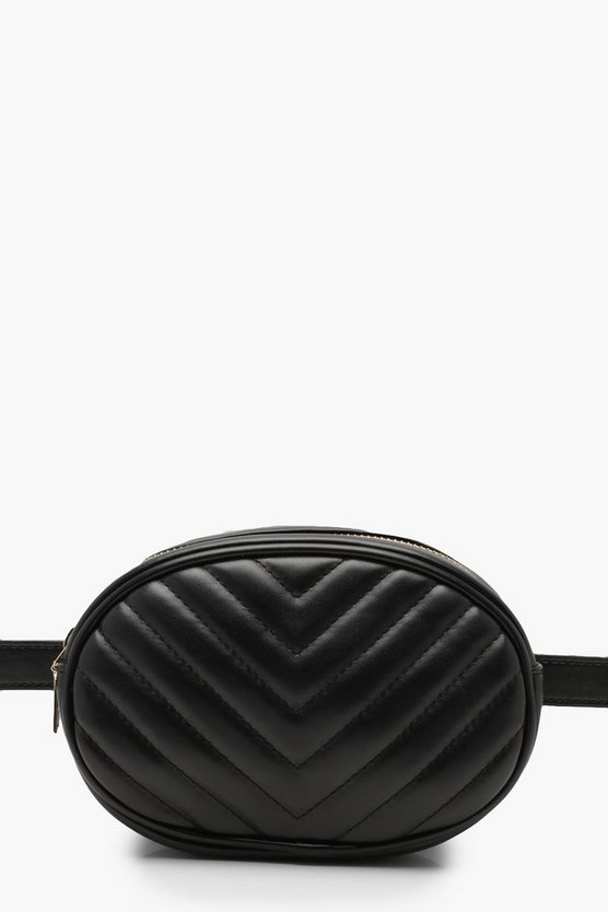 Chevron Quilted Belt Bag