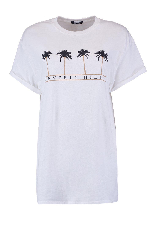 "con Hill ""Beverly con Camiseta eslogan Camiseta XwRRqE"