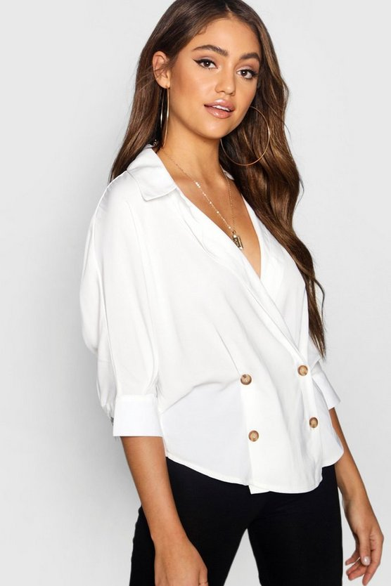 Double Breasted Wrap Shirt