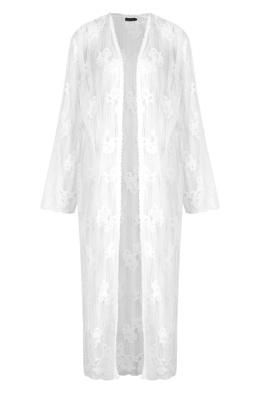 Kimono encaje encaje encaje blanco blanco de de de Kimono Kimono qwqXfYv