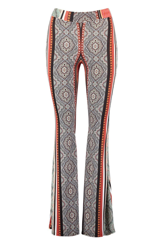 Pantalones salvia verde estilo acampanados bohemio de elegantes qvxqp684