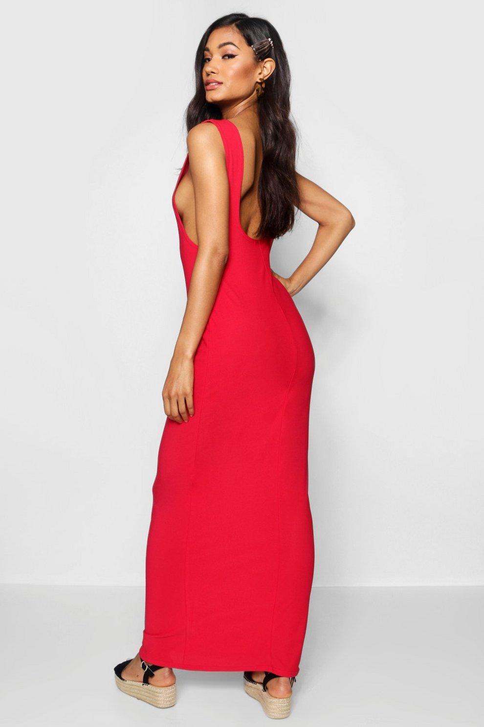 16b13a4db1c3 Low Back Side Boob Maxi Dress   Boohoo