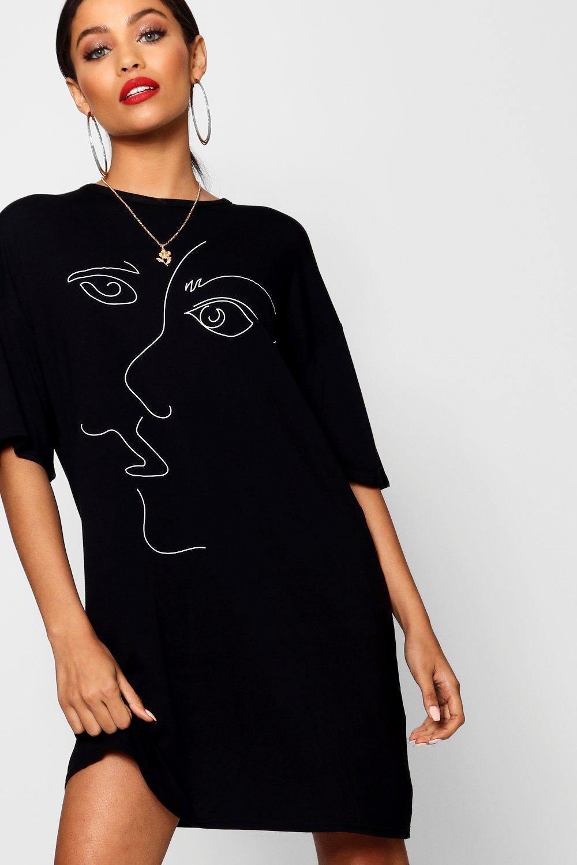 shirt stilizzato t Abito viso con oversize 6UTvx