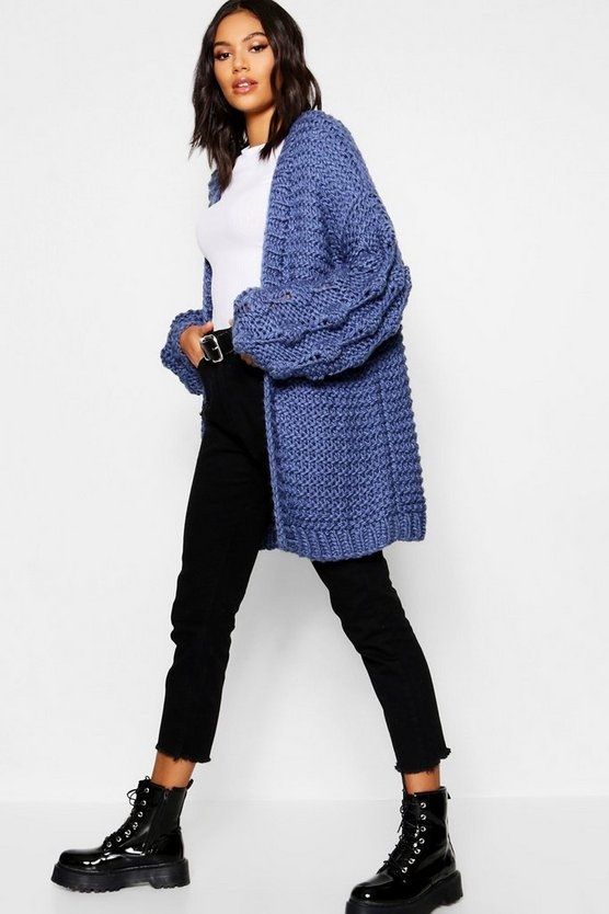 Premium Hand Knitted Chunky Cable Knit Cardigan