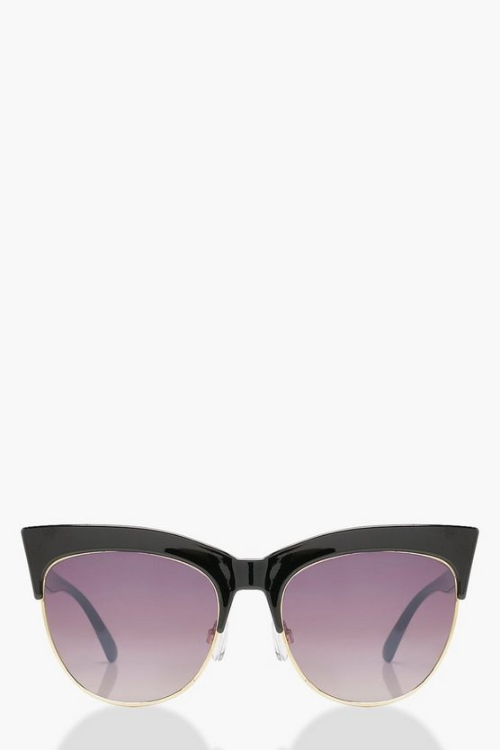 Oversized Cat Eye Sunglasses by Boohoo
