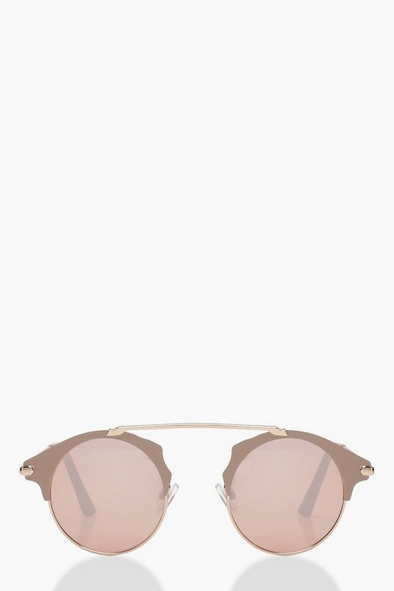 Pink Lens Retro Sunglasses