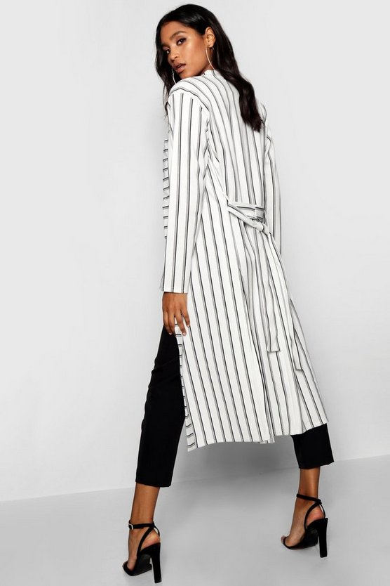 Longline Belted Duster Jacket
