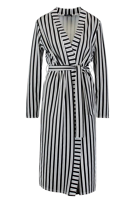 a Kimono Kimono negro rayas rayas monocromas negro a Kimono monocromas 6g6XxwI