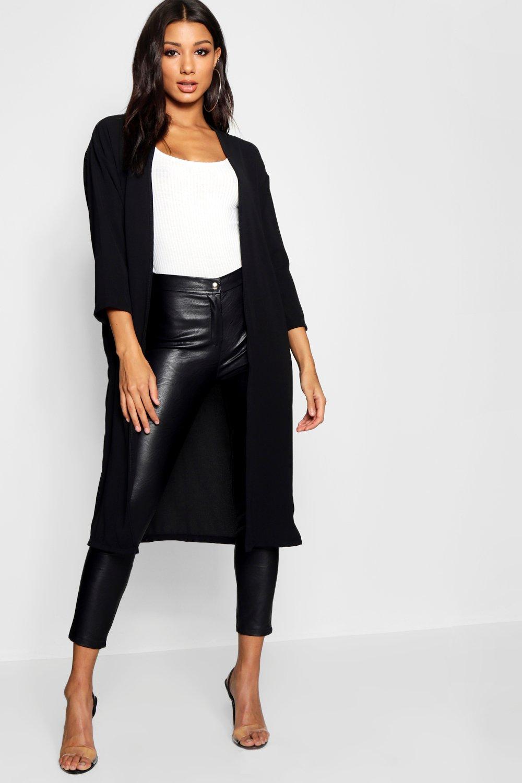 bolsillo Kimono negro colores en con satén de O6z7px6qvn