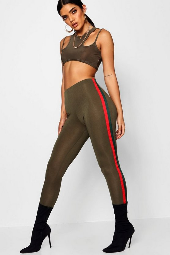 Gestreifte Retro-Leggings, Damen