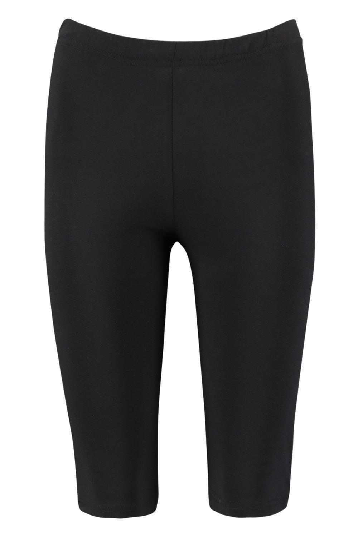 Shorts negros algodón negro ciclista en de sólido aqwar7