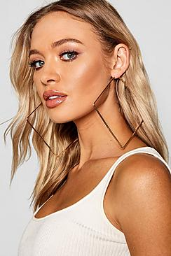 Oversized Square Hoop Earrings