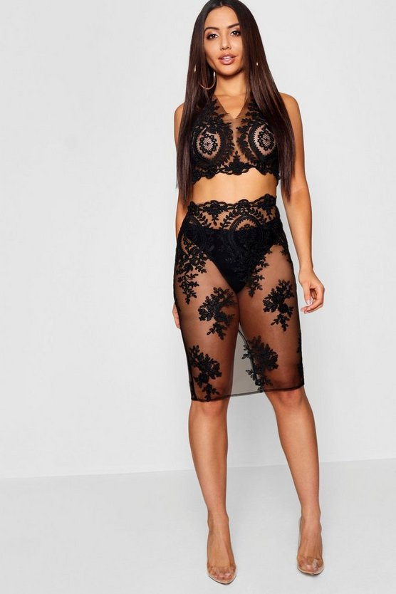 Womens Corded Lace Co-ord