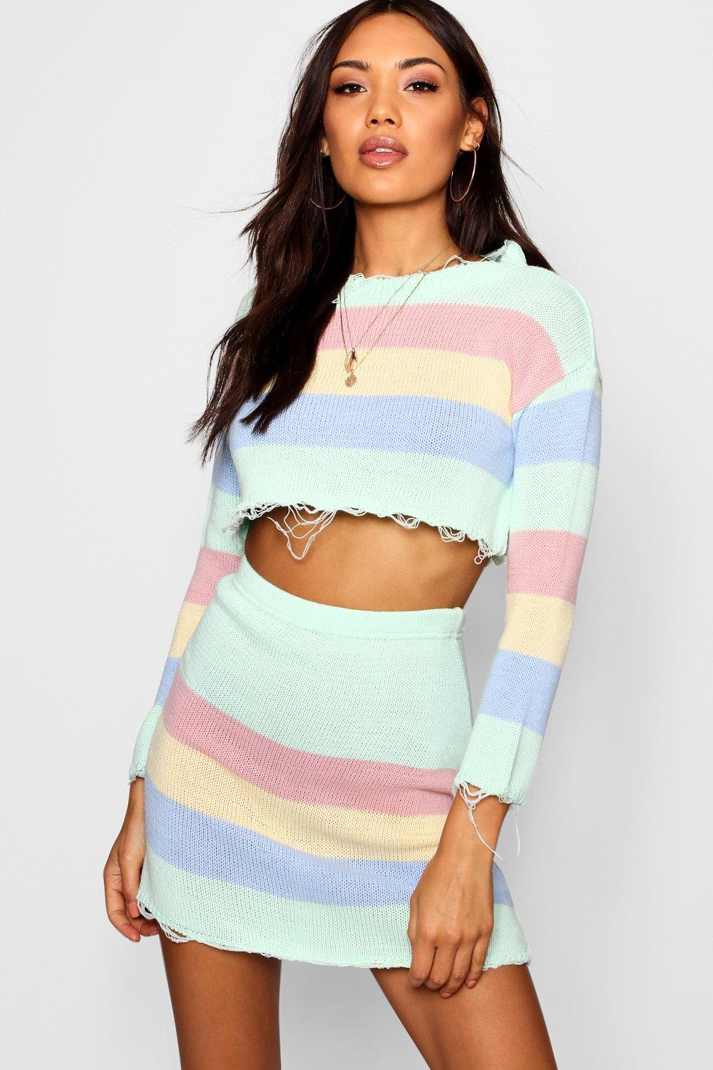 9be2b85955d Knitted Pastel Co-ord Set | Boohoo