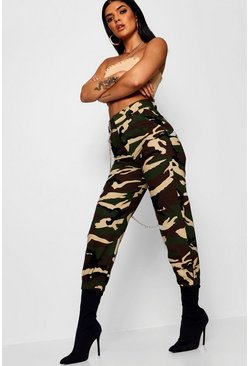 Womens Green Camo Combat Pants