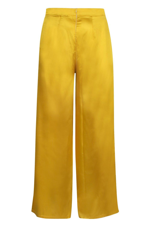 Pantalones acampanados Pantalones satén en acampanados satén en amarillo amarillo 7pwta5xq