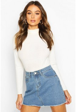 Womens Mid blue Denim Mini Skirt