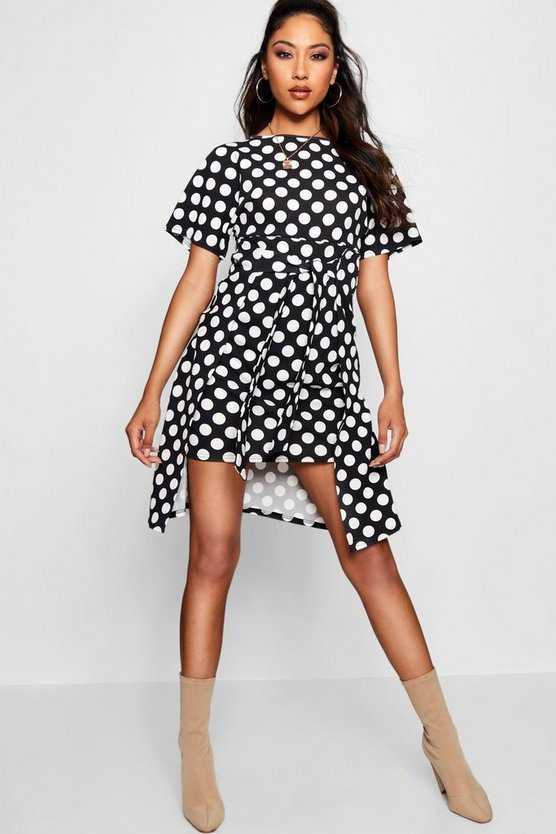 Tie Front Polka Dot Dress