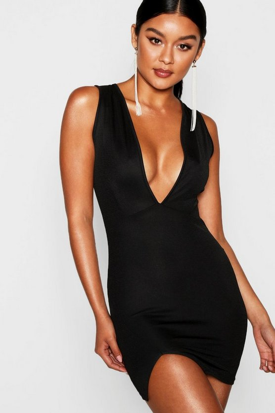 5931bc0d09 deep-plunge-wrap-thigh-split-bodycon-dress by boohoo