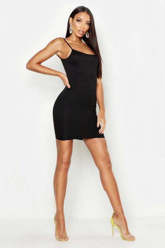 Womens Low Scoop Back Bodycon Dress