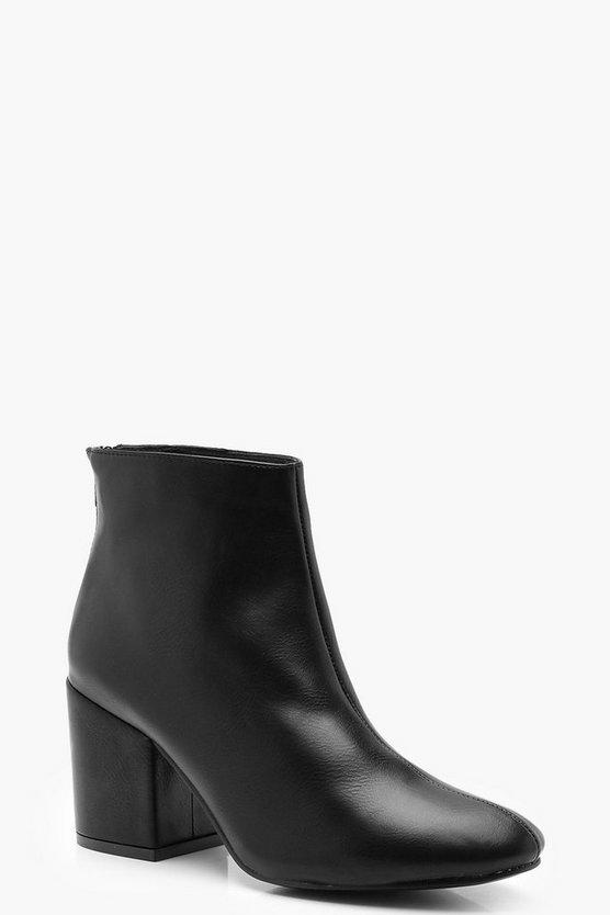 Block Heel Shoe Boots